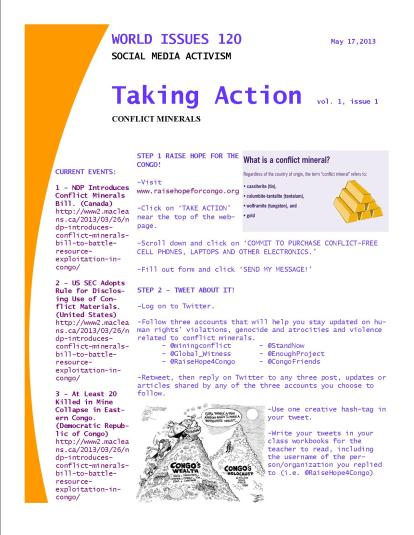 Taking Action - Conflict Minerals