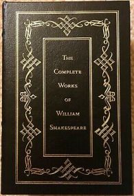 the-complete-works-of-william-shakespeare-bound-in-full-leather-gold-accents